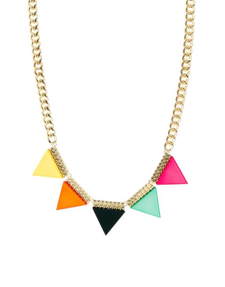 Flot farverig halskæde