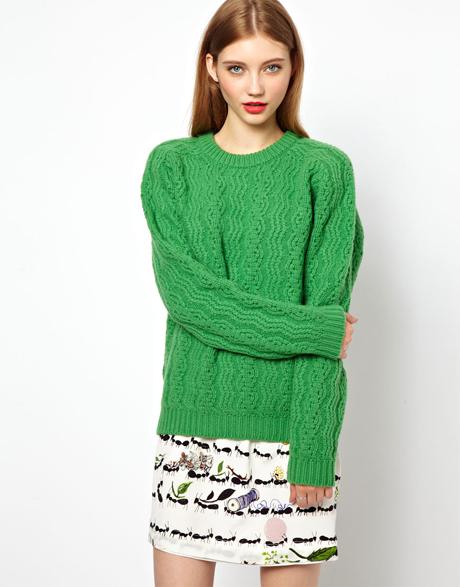 Flot grøn sweater
