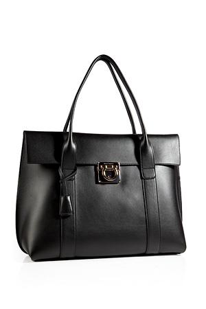 Leather Sookie Tote in Black